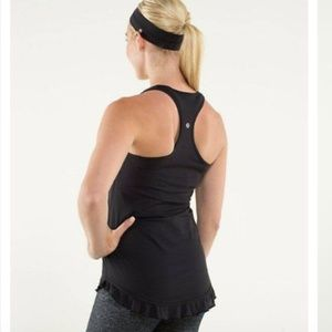 Lululemon Cool Racerback *Ruffled Up medium black